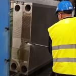 CIP rengöring av värme-, kyl- och sjövattenväxlare