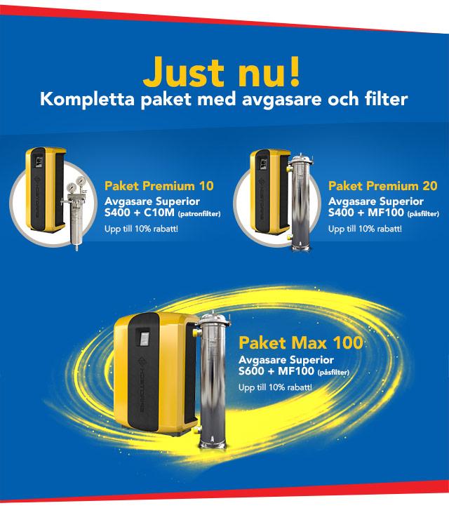 Chemiclean - Spirovent S400 & S600 paket med filter